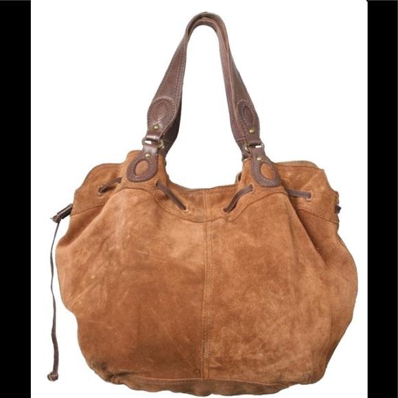 Lucky Brand Handbags - Lucky Brand Vintage Inspired Suede Shoulder Bag